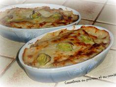 Cannellonis aux poireaux et au comté