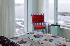 All furniture & linens made on the island in NFLD. Such a cool place... Fogo Island Inn by Saunders Architecture - NordicDesign