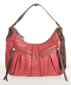 Another great find on #zulily! Red Lynwood Leather Hobo by Børn #zulilyfinds