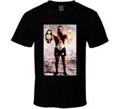 Mike Tyson 2 Belts Cool Retro Boxing Fight Fan T Shirt