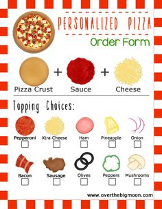 Over The Big Moon Movie and Pizza Family Night Idea w/ Printable Order Forms - Over The Big Moon Menu Pizza, Pizza Party, Pizza Kit, Dramatic Play Area, Dramatic Play Centers, Restaurant Themes, Pizza Restaurant, Pizza Games, Backyard Movie Nights