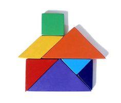 cartões tangram figuras simples - Pesquisa Google
