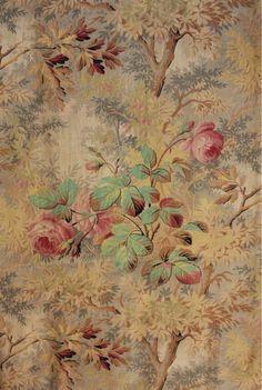 Vintage cushion print of same on her sofa Papel Vintage, Vintage Paper, Vintage Flowers, Vintage Floral, Pattern Texture, Art Chinois, Victorian Wallpaper, Art Japonais, French Fabric