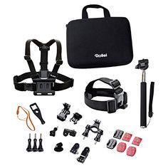 Rollei Actioncam Zubehör Set Outdoor - Ideal zum Klettern, Wandern und andere Outdoor-Aktivitäten - Für Rollei Actioncams und GoPro - http://kameras-kaufen.de/rollei/rollei-actioncam-zubehoer-set-outdoor-ideal-zum