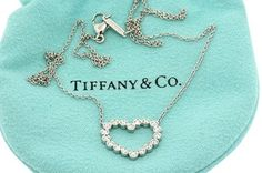 TIFFANY & CO.950 PLATINUM 30CT DIAMOND HEART PENDANT NECKLACE. Get the lowest price on TIFFANY & CO.950 PLATINUM 30CT DIAMOND HEART PENDANT NECKLACE and other fabulous designer clothing and accessories! Shop Tradesy now