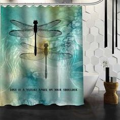 Shower Curtain - Dragonfly COLLECTION (More Designs Inside!) Waterproof Fabric - VARIOUS DESIGNS - Go Look! - #pinterestgasm.com BOGO!!