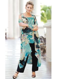 Ulla Popken 3-Piece Duster and Pants Set $159.00 - $169.00