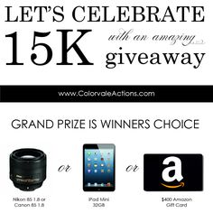 15,000 Facebook Fan Giveaway Over here at Colorvale Actions we are incredibly honored that so many of you have joined with us on Facebook & shared our page with your own friends & fans! Reaching 15,000 Facebook Fans is an exciting milestone and we are super excited to have these top industry vendors participate in a giant giveaway for YOU! . What can be won? Scroll down to see all the amazing vendors who are donating prizes. Please also go [...]