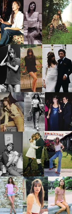 Jane Birkin...style icon. She does jeans and a white tee perfectly!