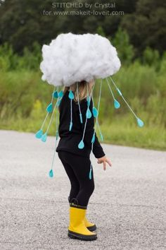 Rain Cloud Custome | Last Minute Halloween Costumes For Kids