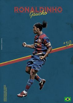 Ronaldinho by Luke Barclay Best Football Players, Football Is Life, Football Art, Football Design, World Football, Vintage Football, Football Match, Soccer Players, Pier Paolo Pasolini