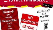 15 free Harry Potter party printables – Part 4