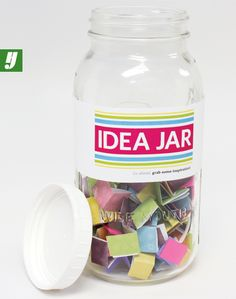 Keep energy high with a #jar full of inspirational phrases or idea-starters.