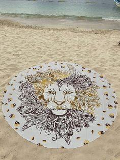 Black White Lion Roundie Beach Throw Hippie Yoga sheet – TheNanoDesigns