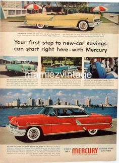 Vintage Mercury Car Magazine Ad/ Ford American by mamiezvintage, $9.95