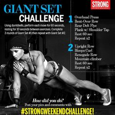 Are you up for the Giant Set Challenge? Post your photos, videos and results…