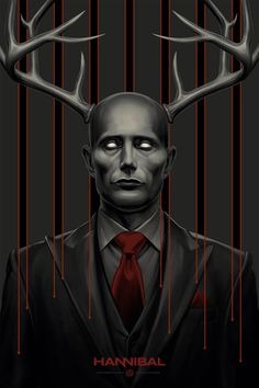 The Wendigo - Hannibal poster for Mondo by Phantom City Creative suit and tie Hannibal Lecter, Hannibal Tv Series, Nbc Hannibal, Hannibal Wendigo, Sir Anthony, Marvel, Pop Culture, Cool Art, Images