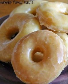 Wannabe Famous Donuts ~ The BEST donut recipe EVER! .. These look just like Krispy Kreme! OMG... I am drooling right now! Yummy!