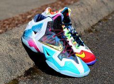 "Nike Lebron 11 ""What The Lebron Kicks Shoes, Lit Shoes, Shoes Heels, Lebron 11, Nike Lebron, Cheap Sneakers, Sneakers Nike, What The Lebron, Sneakers Fashion"