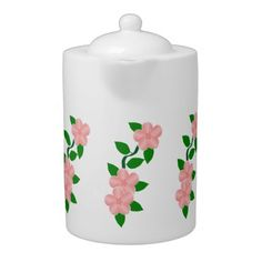 #Pink #Flowers Design #Teapot