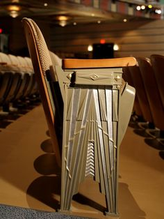 Art Deco theater seat
