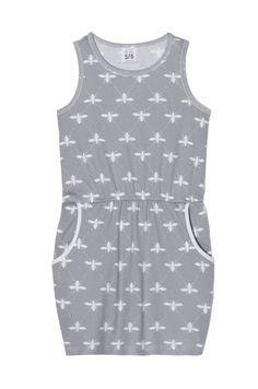 *pocket dress grey bee nosweet