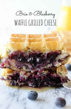 Brie and Blueberry Waffle Grilled Cheese | 23 Brunch Recipes That Are Almost Too Good To Be True