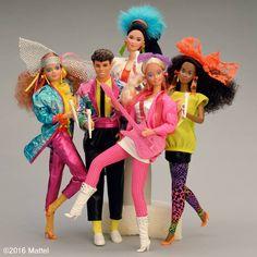 barbie and the rockers Barbie 80s, Vintage Barbie Clothes, Barbie Dream, Barbie World, Vintage Dolls, Childhood Toys, My Childhood Memories, Old School Toys, Disney Dolls