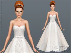 •Sims 3 clothes ~My sim is getting married so I needa find a dress~