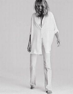 oversized white button down shirt & crisp white pants #style #fashion