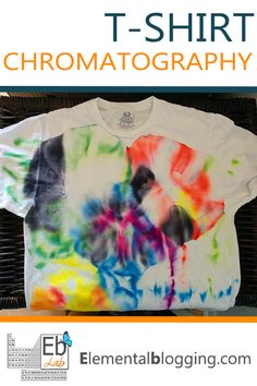 Grabs your kids, some sharpies, rubbing alcohol and a t-shirt and start have some chemistry fun! {Elemental Blogging}