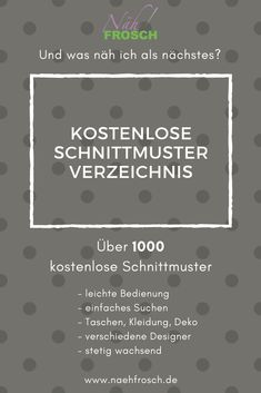 Over free sewing patterns, sewing instructions and free Über kostenlose Schnittmuster, Nähanleitungen und Freebooks Free Patterns – The directory of over 300 free patterns and freebooks! via sewing frog - Baby Knitting Patterns, Sewing Patterns Free, Free Sewing, Free Pattern, Sewing Projects For Beginners, Knitting For Beginners, Sewing Tutorials, Easy Knitting, Easy Projects