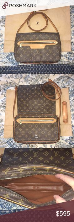 Louis Vuitton Simply stunning Louis Vuitton Saint Germain GM. Largest size in the Saint Germain line. Adjustable shoulder to crossbody style.  Leather is a light golden honey patina—gorgeous condition with only one super tiny surface crack at one of the adjustable buckle holes which does not affect function or use (pictured). Pockets have been professionally cleaned and are fully useable. Comes with DUSTBAG. Louis Vuitton Bags Crossbody Bags