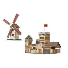joc constructie, jocuri de construit,  jucarii din lemn, joc constructie castel, joc castel, joc moara de vant