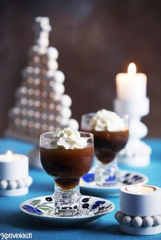 Finnish Recipes, Christmas Is Coming, Panna Cotta, Sweet Tooth, Goodies, Food And Drink, Candles, My Favorite Things, Tableware