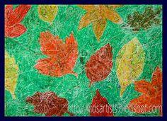 paper batik autumn leaves