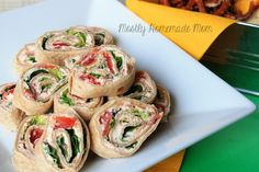 BLT Roll Ups. My men do not like lettuce or tomatoes for I did bacon and green onions. Very easy and very good.