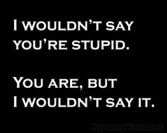 "Everybody is ""stupid"" in their own original, corky ways.  Don't judge!"