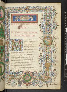 The Florentine Homer - The British Library Illuminated Letters, Illuminated Manuscript, Typography Layout, Lettering, Illumination Art, Beautiful Calligraphy, Book Of Hours, Medieval Manuscript, Calligraphy Letters