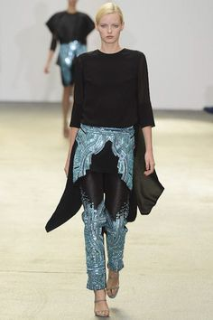 Love the look especially the beading pattern and choice of colors by Antonio Berardi