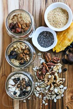 AMAZING, definitely adding these to prep day --> DIY Homemade Instant Oatmeal In A Jar Recipe via Jeanette's Healthy Living