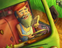"""Check out new work on my @Behance portfolio: """"Cheerful Oldman"""" http://be.net/gallery/62610699/Cheerful-Oldman"""