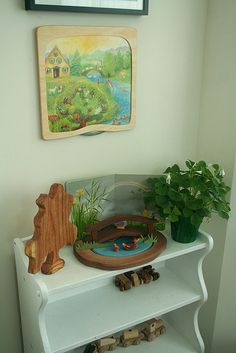 Rotating Picture and Frame over Seasonal Shelf...