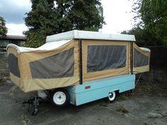 1969 Coleman Pop Up Camper Folding TRAVEL Tent TRAILER