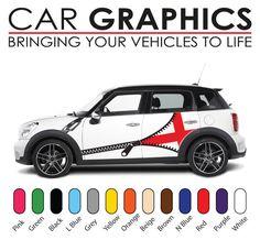Mini cooper car graphics decals stickers vinyl design mn25