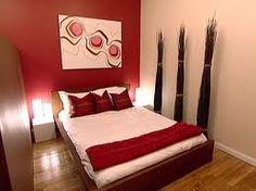 1000 images about paint colors on pinterest red accent for Red cream bedroom designs