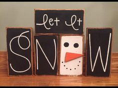 Excited to share the latest addition to my shop: Let It Snow (with snowman) Primitive/ Country/ Distressed Custom Wood Block Set Stacker 2x4 Crafts, Wooden Crafts, Fall Crafts, Crafts To Sell, Holiday Crafts, Fall Craft Fairs, Selling Crafts, Holiday Decorations, Christmas Wood Crafts