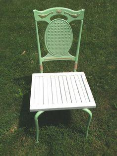 Handmade repurposed side table by Misfitzz on Etsy, $65.00