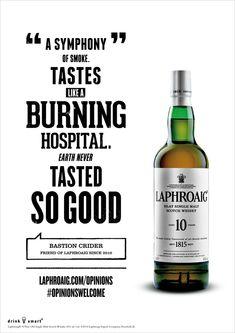 Laphroaig Scotch Doesn't Mind If You Think It 'Tastes Like a Burning Hospital' | Adweek