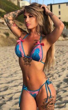 See more ideas about Beautiful Women, Bikini girls and Beachwear fashion. Gorgeous big breasted blonde woman mum in blue bikini swimwear. The Bikini, Bikini Babes, Bikini Models, Sexy Bikini, Bikini Girls, Bikini Swimwear, Swimsuits, Daily Bikini, Pink Bikini